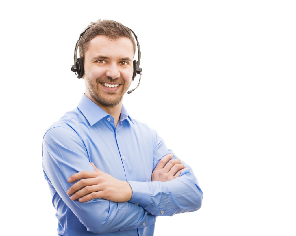 graphicstock call center operator isolated on white young handsome man with headset_S0 0uuZ3